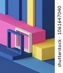 3d render  abstract geometric...   Shutterstock . vector #1061647040