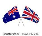 uk and australia flag crossed... | Shutterstock .eps vector #1061647943
