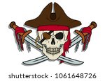 skull pirate. jolly roger. the... | Shutterstock .eps vector #1061648726