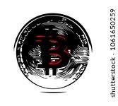bitcoin crypto currency  vector ... | Shutterstock .eps vector #1061650259