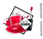 nail art studio logo design... | Shutterstock .eps vector #1061650550