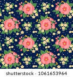 floral seamless pattern with... | Shutterstock .eps vector #1061653964