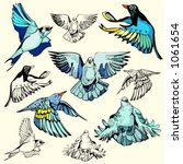 a set of 5 vector illustrations ... | Shutterstock .eps vector #1061654