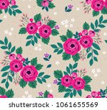 floral seamless pattern with... | Shutterstock .eps vector #1061655569
