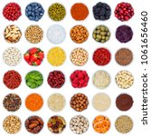 collection of fruits and... | Shutterstock . vector #1061656460