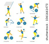 summer sports icon set  3 of 6 .... | Shutterstock .eps vector #1061661473