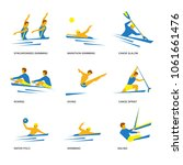 summer sports icon set  1 of 6 .... | Shutterstock .eps vector #1061661476