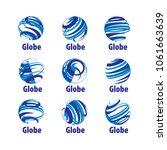 vector logo globe | Shutterstock .eps vector #1061663639