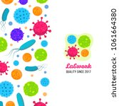 macro bacteria and virus vector ...   Shutterstock .eps vector #1061664380