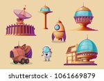 vector mars colonization... | Shutterstock .eps vector #1061669879