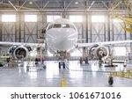 passenger aircraft on... | Shutterstock . vector #1061671016