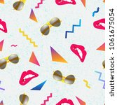 seamless summer pattern with... | Shutterstock .eps vector #1061675054