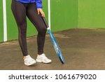 sport   legs of woman with... | Shutterstock . vector #1061679020