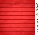 cartoon wooden table background.... | Shutterstock .eps vector #1061680400