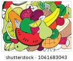 a set of doodles on the theme... | Shutterstock .eps vector #1061683043