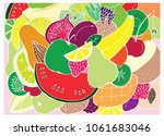 a set of doodles on the theme... | Shutterstock .eps vector #1061683046