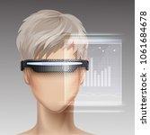 vector vr ar optical head...   Shutterstock .eps vector #1061684678