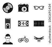 graphic data icons set. simple... | Shutterstock .eps vector #1061691434