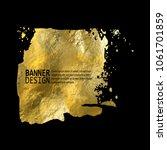 gold texture blob paint stain... | Shutterstock .eps vector #1061701859
