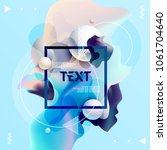 fluid poster design. abstract...   Shutterstock .eps vector #1061704640