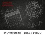 mechanical engineering drawings ... | Shutterstock .eps vector #1061714870