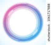 geometric frame from circles ... | Shutterstock .eps vector #1061717888