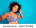 close up portrait of careless... | Shutterstock . vector #1061724488