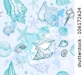 grange sea background. hand...   Shutterstock .eps vector #106172624