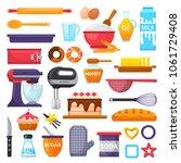 baking vector kitchenware and... | Shutterstock .eps vector #1061729408