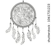 dreamcatcher. zentangle.... | Shutterstock .eps vector #1061731223