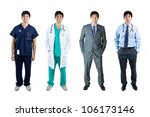 different poses of the same...   Shutterstock . vector #106173146