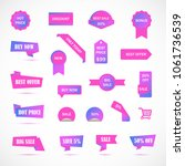 vector stickers  price tag ... | Shutterstock .eps vector #1061736539