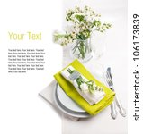 festive table setting and...   Shutterstock . vector #106173839