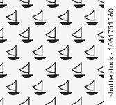 seamless pattern  boat art ... | Shutterstock .eps vector #1061751560