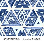 indian geometric folklore... | Shutterstock .eps vector #1061752226