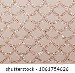 gold glitter mermaid scales... | Shutterstock .eps vector #1061754626