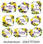 spring flower frame for... | Shutterstock .eps vector #1061757644