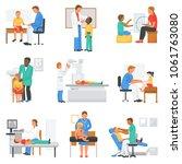 doctor and patient vector... | Shutterstock .eps vector #1061763080