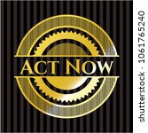 act now gold badge or emblem | Shutterstock .eps vector #1061765240