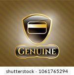 gold emblem with credit card... | Shutterstock .eps vector #1061765294