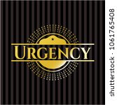 urgency gold badge | Shutterstock .eps vector #1061765408