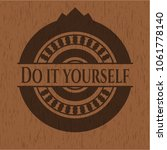 do it yourself wooden signboards | Shutterstock .eps vector #1061778140