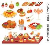 appetizer vector appetizing... | Shutterstock .eps vector #1061779040