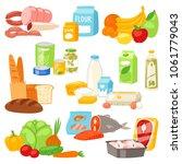 food vector meal assortment... | Shutterstock .eps vector #1061779043