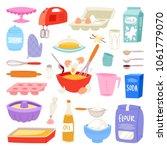 bakery ingredients vector food... | Shutterstock .eps vector #1061779070