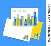 real estate logo. vector design ... | Shutterstock .eps vector #1061780084