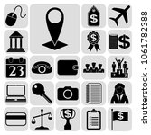 set of 22 business icons or... | Shutterstock .eps vector #1061782388