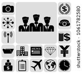 set of 17 business icons.... | Shutterstock .eps vector #1061782580