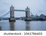 tower bridge  at dusk in london ... | Shutterstock . vector #1061786603