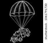 parachute and car | Shutterstock .eps vector #1061791730